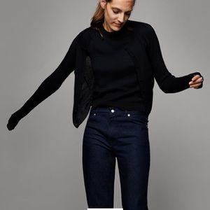 Zara Intarsia Knit Buttoned Cardigan